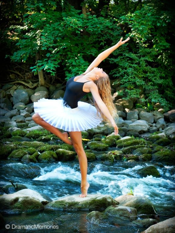 Senior Dance Pictures Outdoor Dancer in River