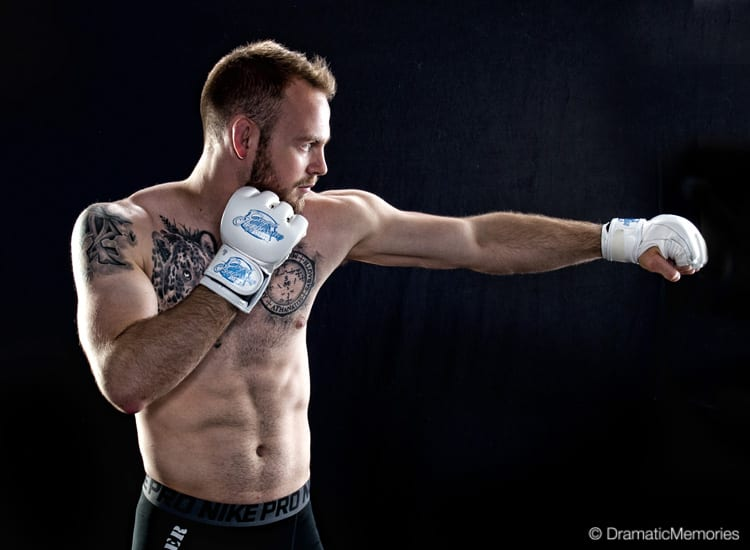 Sports Photography MMA Fighter Chance Cretsinger, The Reach