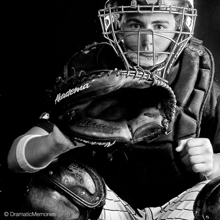 Sports Senior Pictures Baseball Catcher
