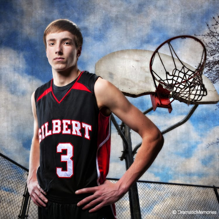 Sports Senior Pictures Basketball Player Outdoors