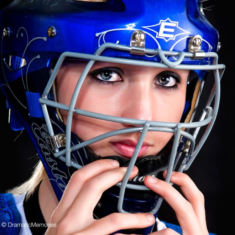 Sports Senior Pictures Girl Softball Catcher