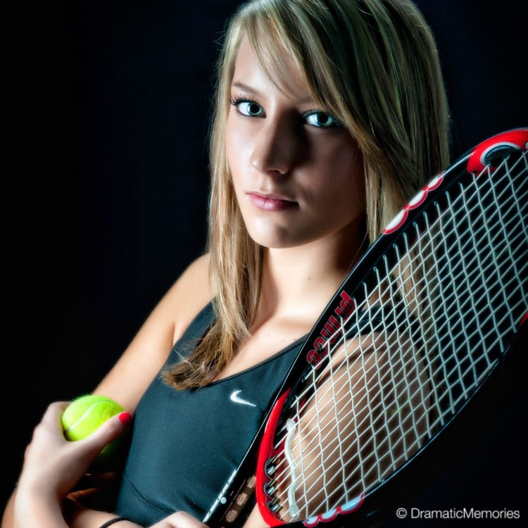 Sports Senior Pictures Tennis Player Closeup