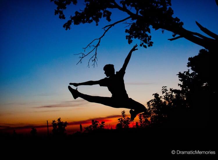 Unique Senior Pictures Dancer at Sunset