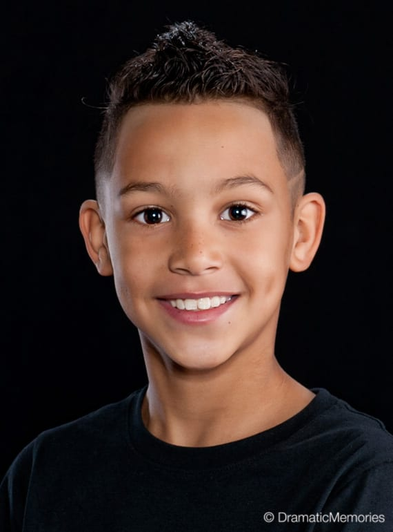 dance headshots of a young boy